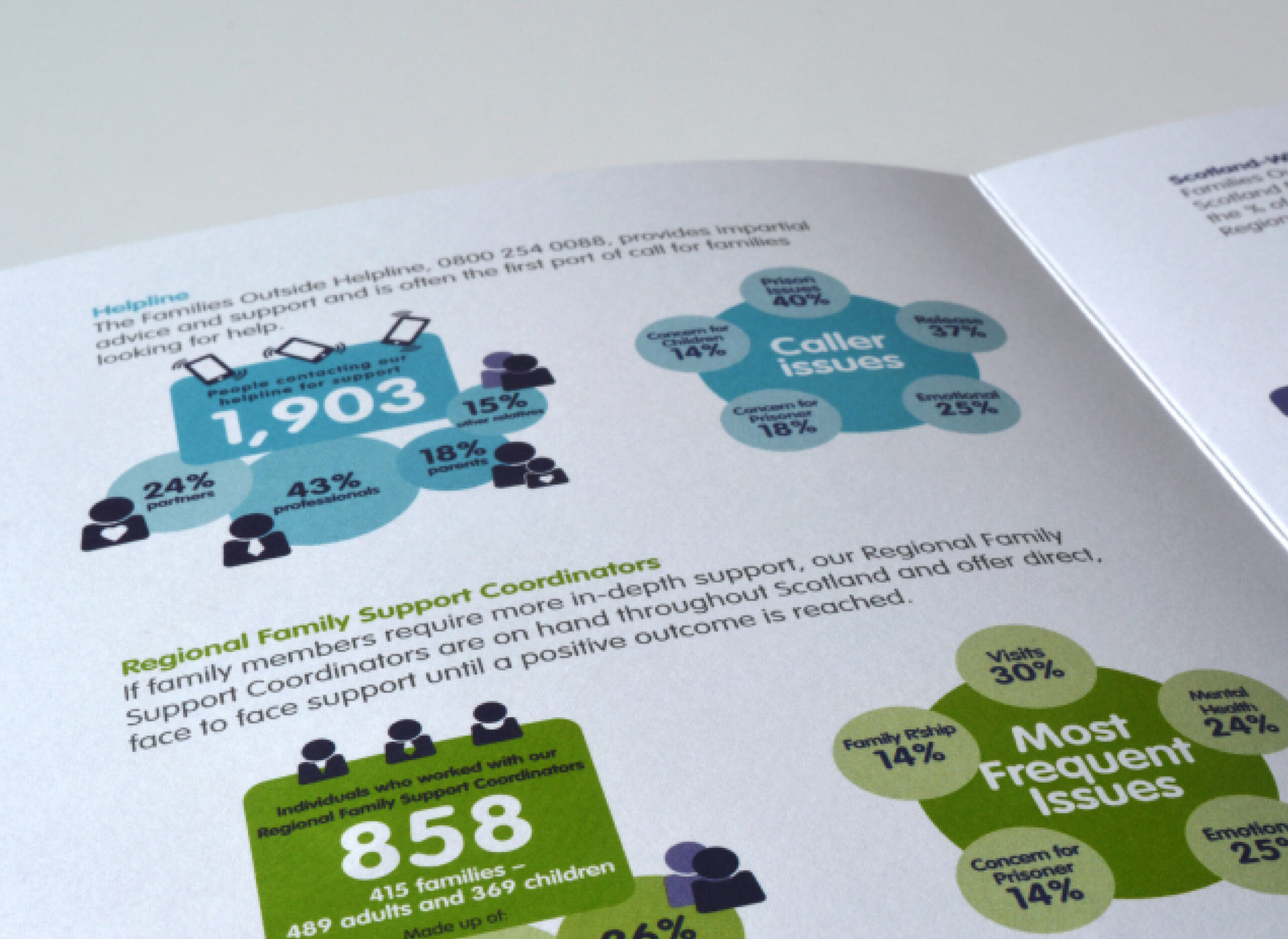 Annual Report with infographic style